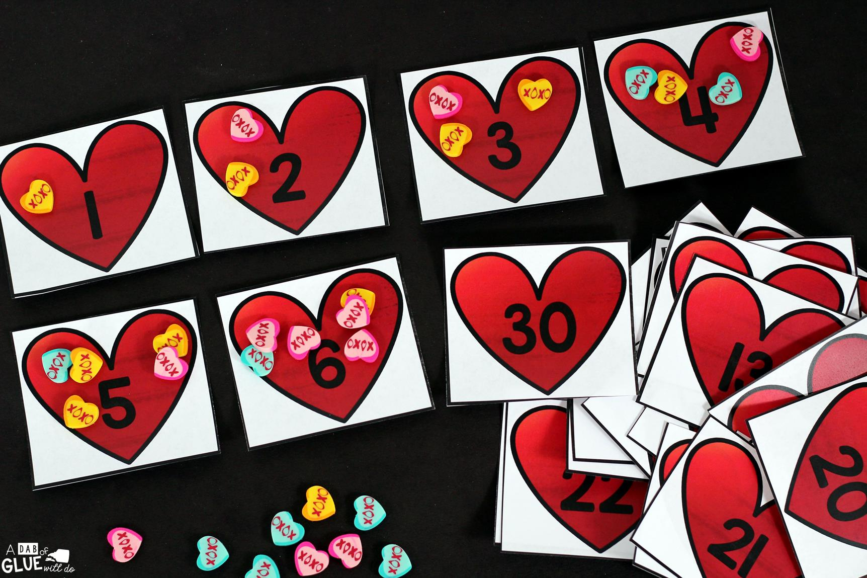 hight resolution of Valentine's Day Skip Counting Math Printable -