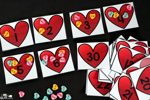 small resolution of Valentine's Day Skip Counting Math Printable -