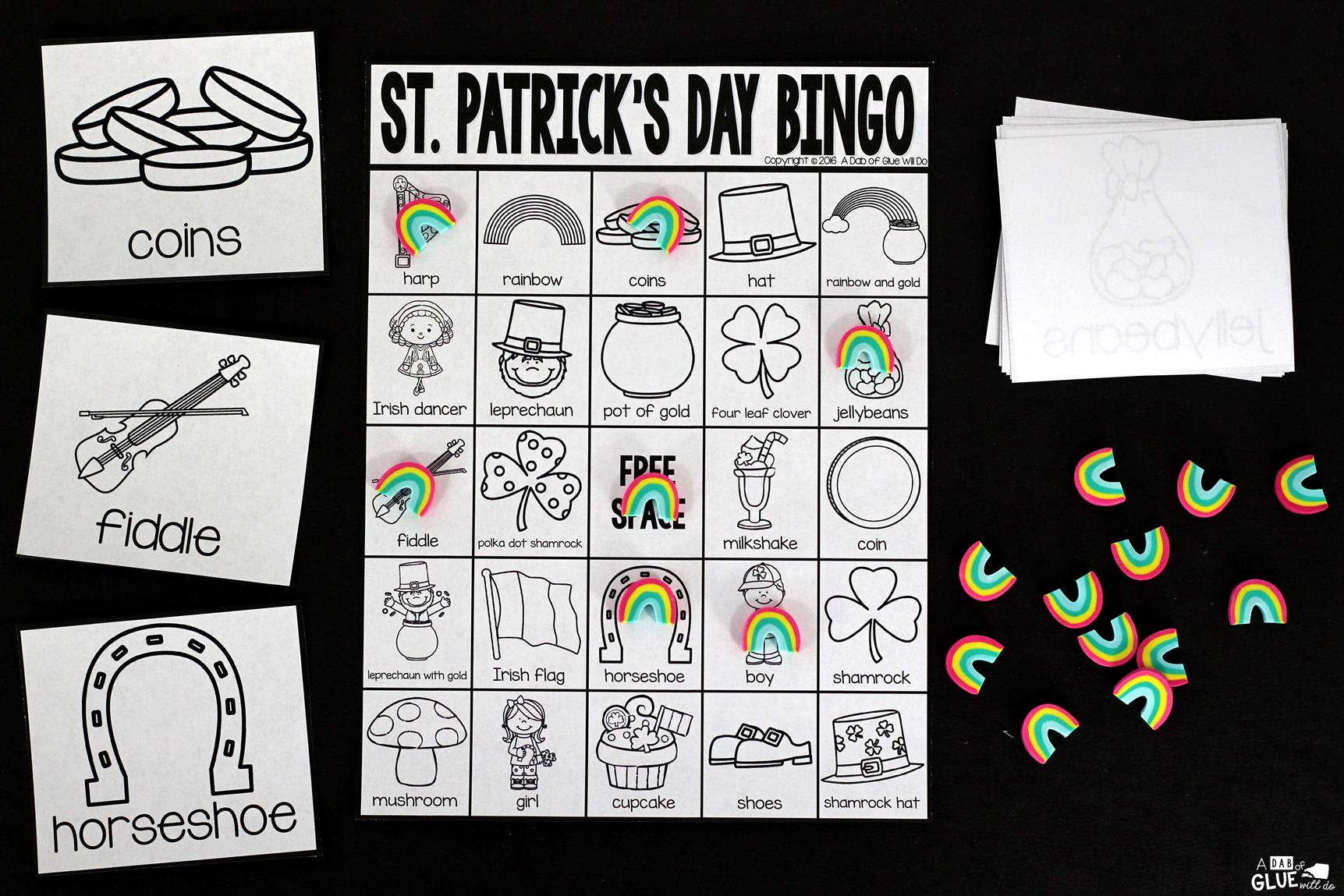 Bingo Sheets For St Patrick S Day