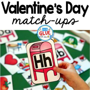Valentine's Day Initial Sound and Number Match-Ups