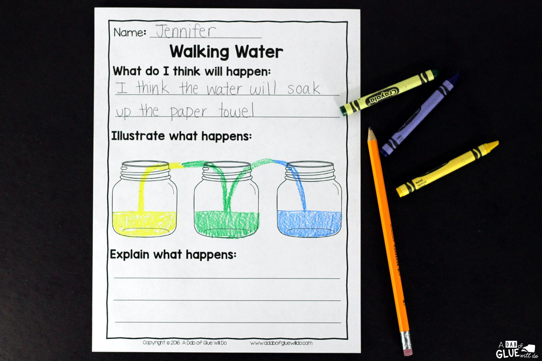 Walking Water Science Activity For Kids