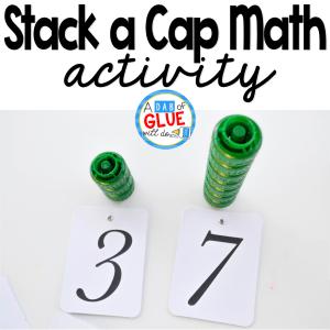 Stack a Cap Math Activity