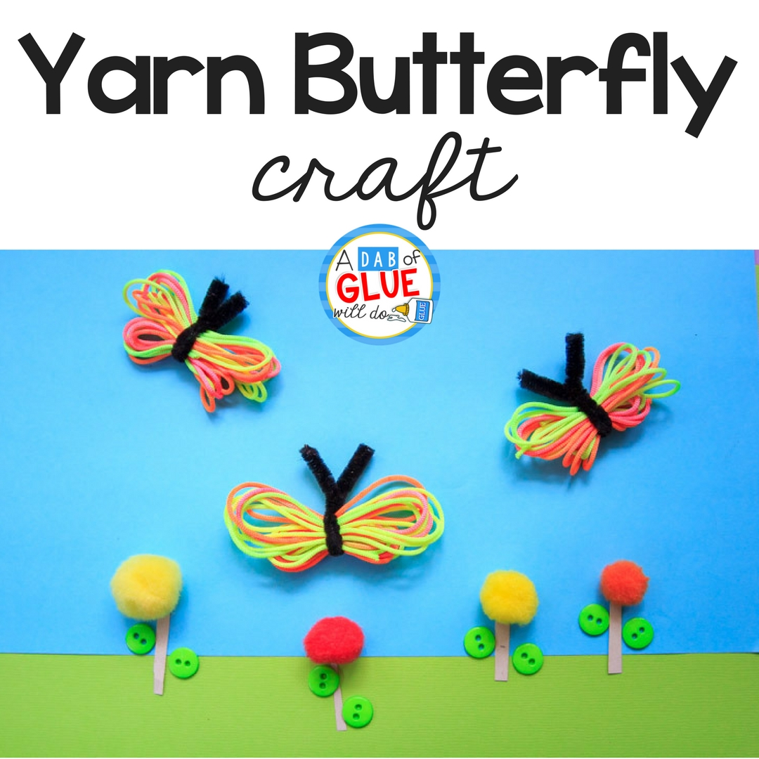 How To Make A Rainbow Yarn Butterfly Craft