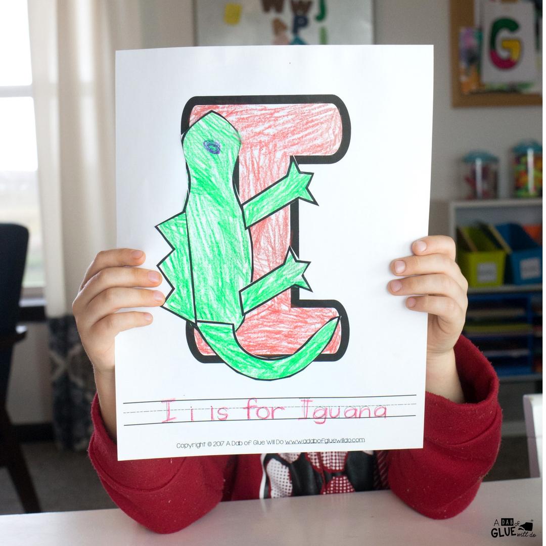 Animal Alphabet I Is For Iguana Craft