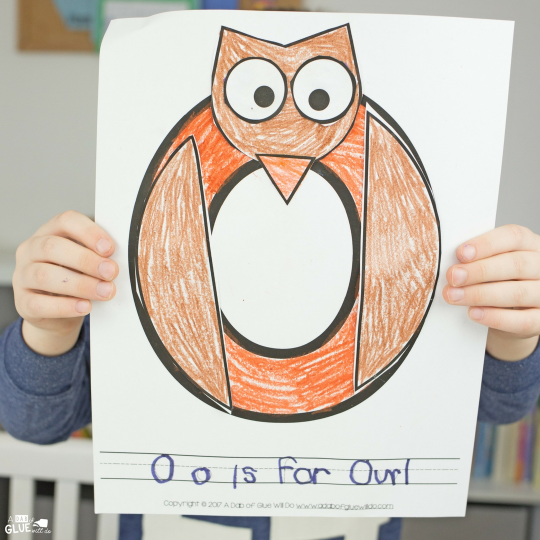 Animal Alphabet O Is For Owl Craft