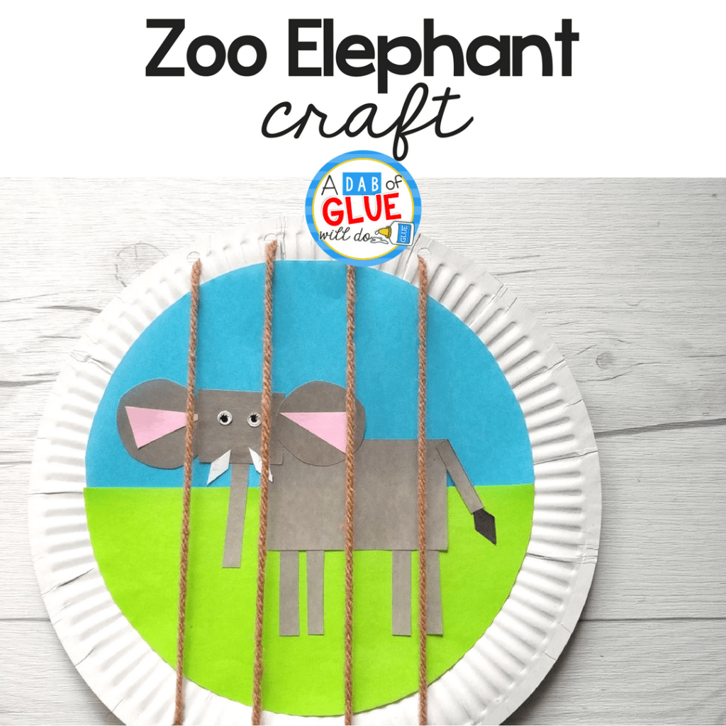 Easy Zoo Animal Elephant Craft For Kids