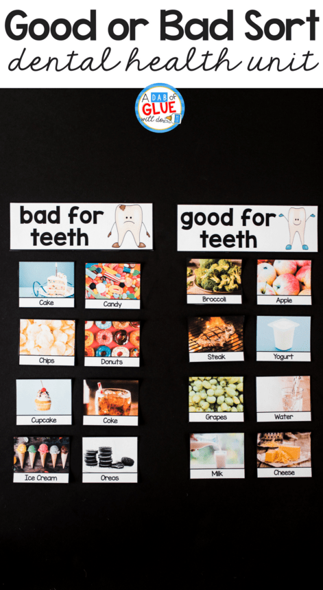 hight resolution of Kids Dental Health Science Unit -