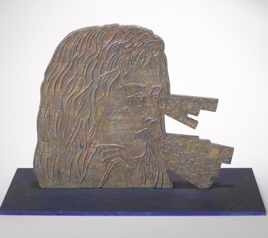 Kiki Smith, Receiving, 2015, compensato giapponese intagliato a laser e dipinto. Per gentile concessione dell'artista e della Pace Gallery