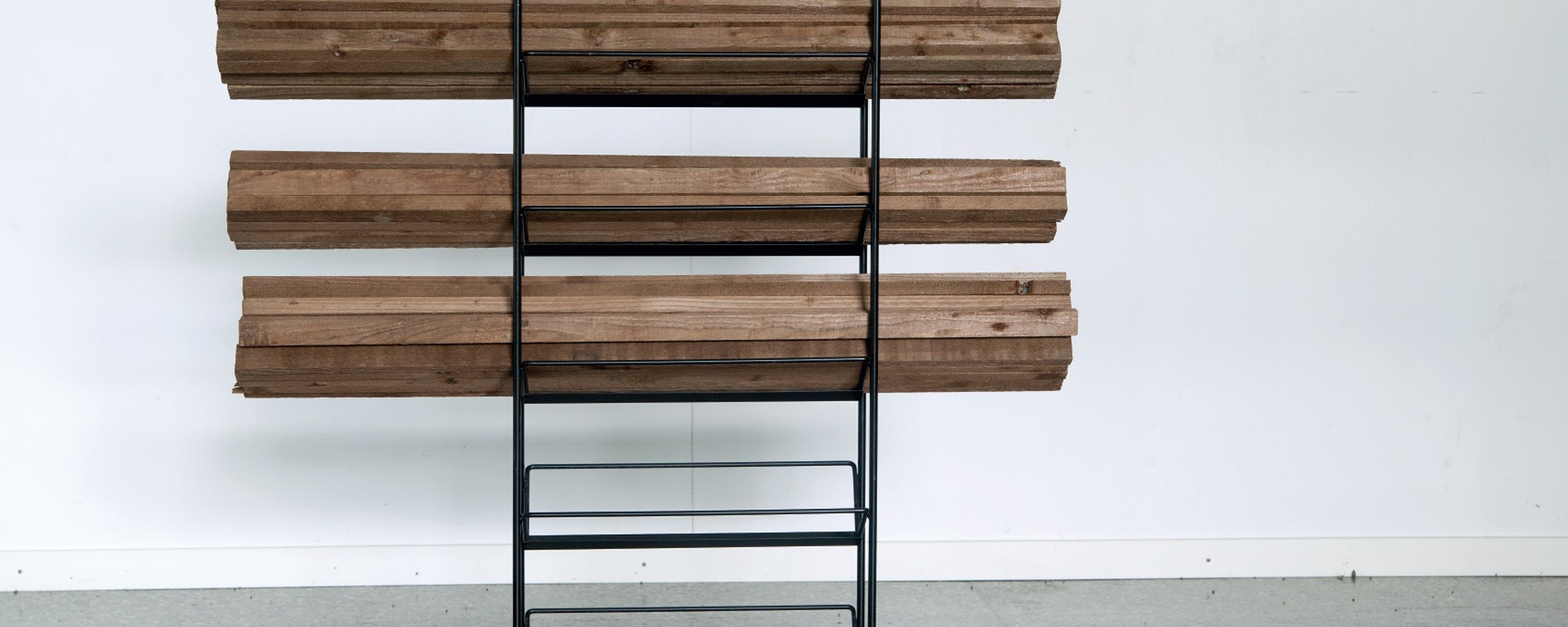 Geraldine Honauer, 'Obstacle', 2015, Wood and metal, 40 × 160 × 160cm. Courtesy of the artist and Unit 1 Gallery | Workshop