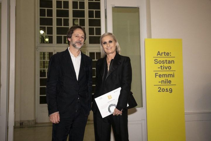 Premio ARTE: Sostantivo Femminile. Luca Bergamo, Maria Grazia Chiuri