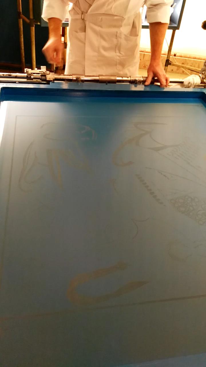 Stampatore su seta, Hermès dietro le quinte, Museo dell'Ara Pacis