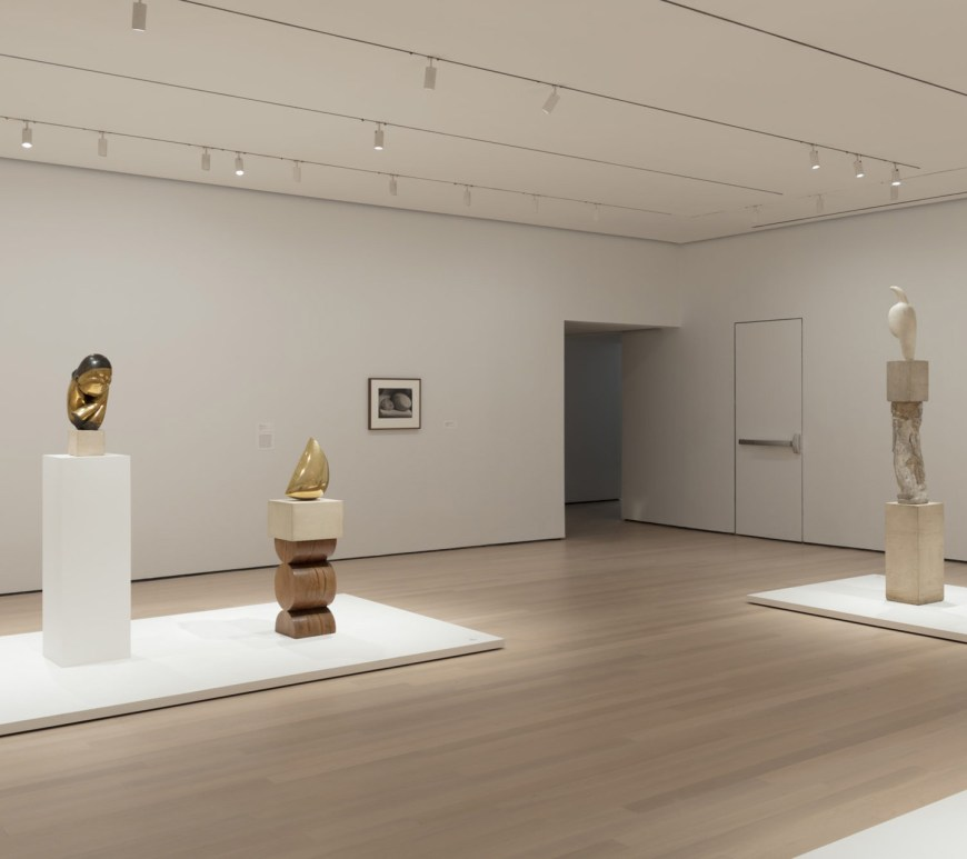 Installation view of Constantin Brancusi Sculpture, The Museum of Modern Art, New York, July 22, 2018–June 15, 2019. © 2018 The Museum of Modern Art. Photo: Denis Doorly
