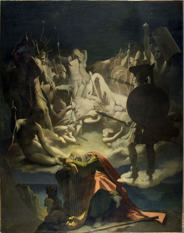 J.A.D. Ingres, Il sogno di Ossian, 1813, Olio su tela, 348 x 275 cm. Musée Ingres, Montauban