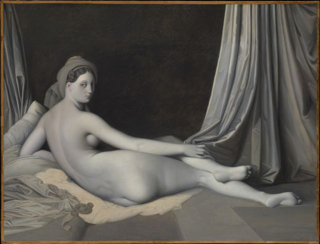 J.A.D. Ingres, Grande odalisca (versione in chiaroscuro), 1830 circa, Olio su tela 83,20 x 109,20 cm, The Metropolitan Museum of Art, New York, Catharine Lorillard Wolfe Collection, Wolfe Fund, 1938