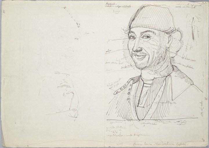 Giovan Battista Cavalcaselle, Ritratto d'uomo Cefalù, da Antonello da Messina, 30 x 21,1 cm. Biblioteca Nazionale Marciana, Venezia