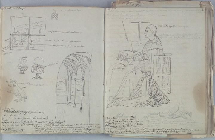 Giovan Battista Cavalcaselle, San Girolamo nello studio, da Antonello da Messina. Biblioteca Nazionale Marciana, Venezia