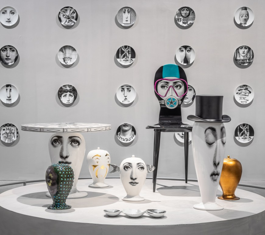 "Allestimento della mostra ""FORNASETTI Inside Out Outside In"", Artipelag. Ph credit Jean-Baptiste Béranger. Courtesy Fornasettimmagine della mostra ""FORNASETTI Inside Out Outside In"", Artipelag. Ph credit Jean-Baptiste Béranger. Courtesy Fornasetti"