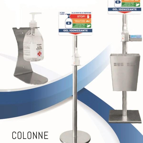 Colonnine porta gel disinfettante