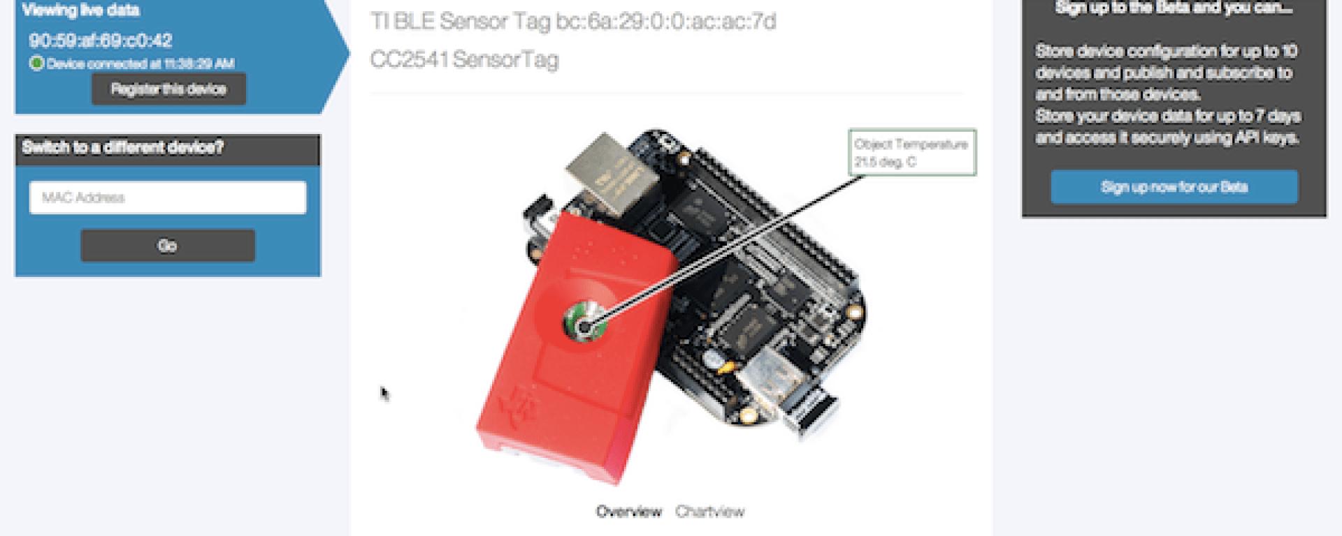 IBM tutorial on using TI SensorTag with BeagleBone Black
