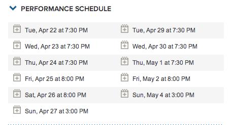 Post Secret Performance Dates