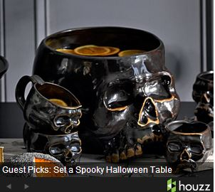 Set the spookiest table around for Halloween