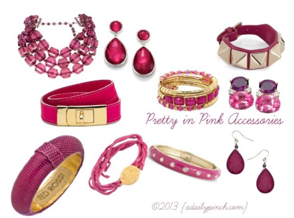 Pretty in Pink Fashion Accessories