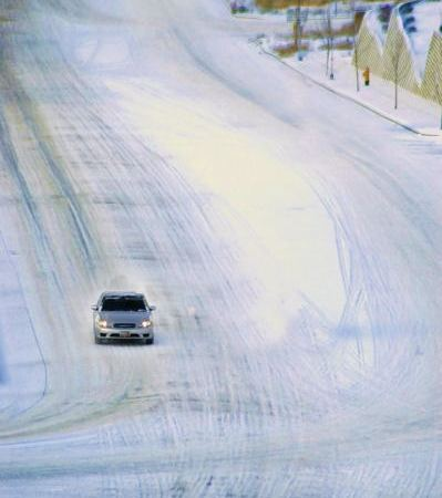 winter travel by car