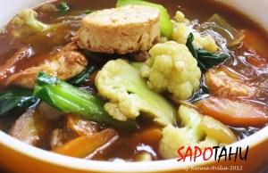 Resep Sapo Tahu Ayam