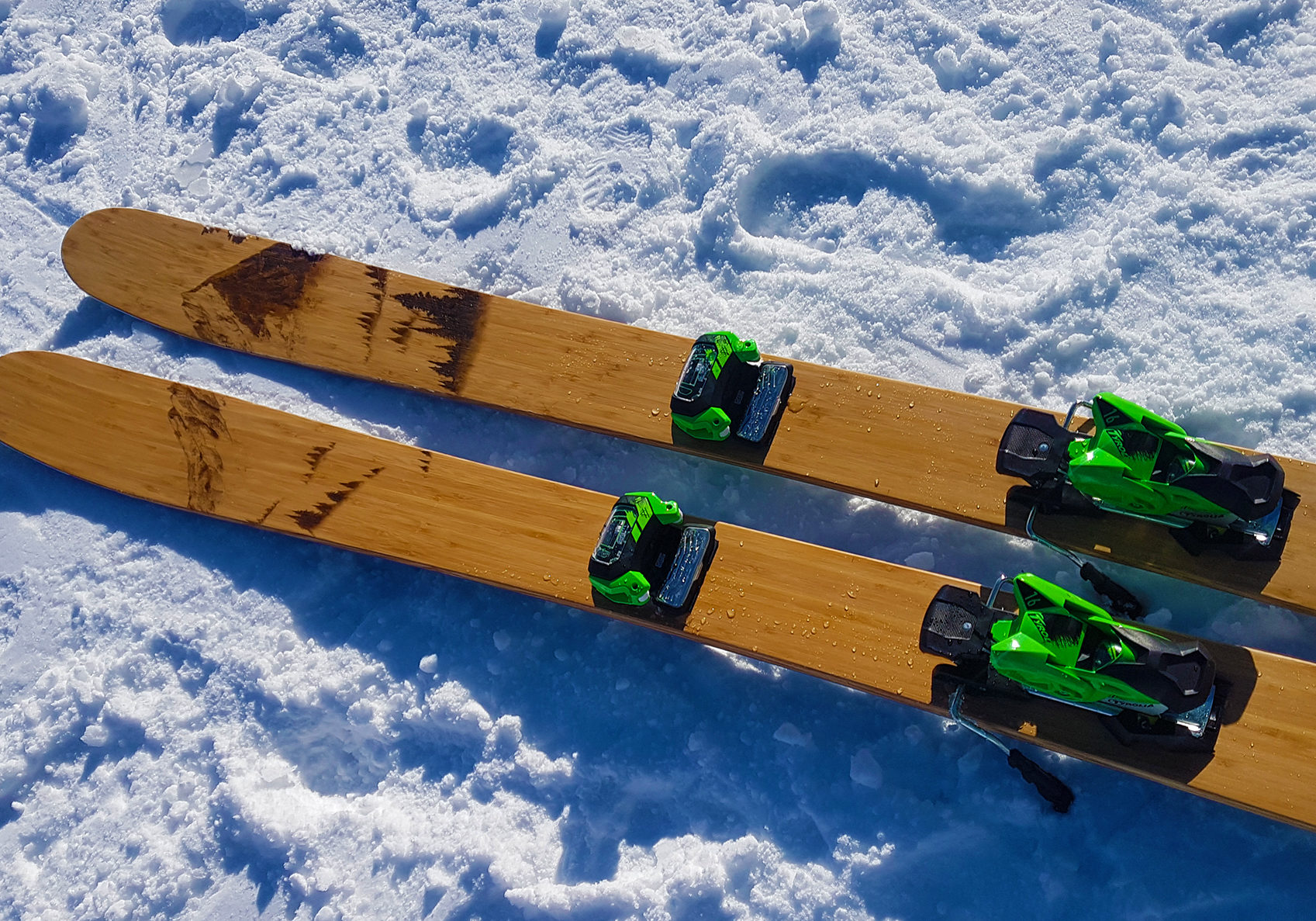 skis handmade wooden freeride freestyle alpine
