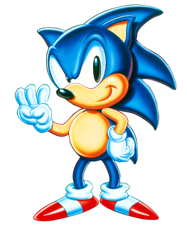 Sonic holding up three fingers