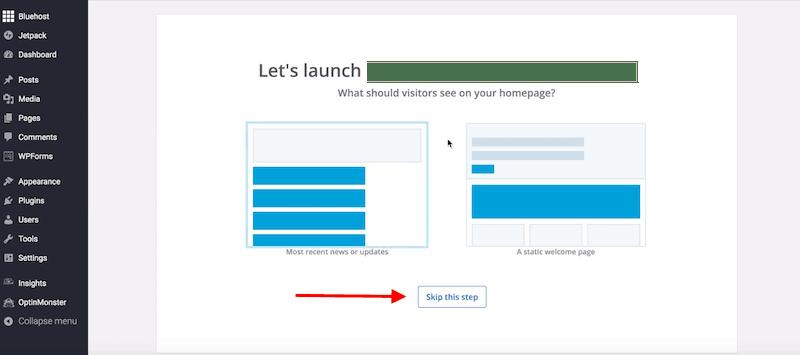 How to Start a Blog - final wordpress launch