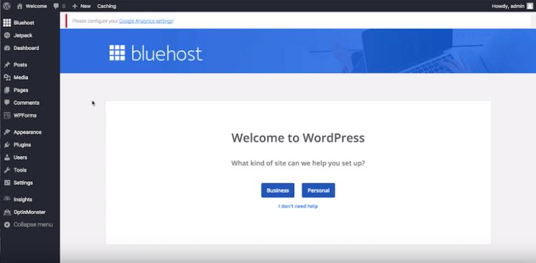 Come iniziare un blog - benvenuto in wordpress