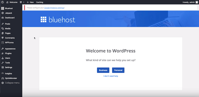 How to Start a Blog - welcome to wordpress