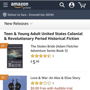 The Stolen Bride is an Amazon #1 New Release