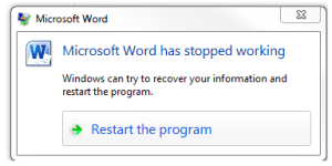 word crash