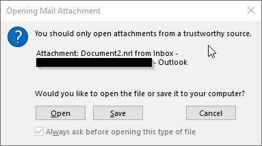 Disabling Outlook Opening Mail Attachment Prompt