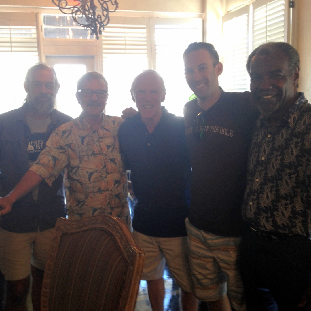 Lunching with the St. Pete Intellects @ Chief's Creole Cafe following the walking tour of the 22nd Street South neighborhood. (L to R) Preservation Guide Peter Belmont, Author and journalist Jon Wilson, my dad, me, Chief's Creole Cafe owner Elieu Brayboy