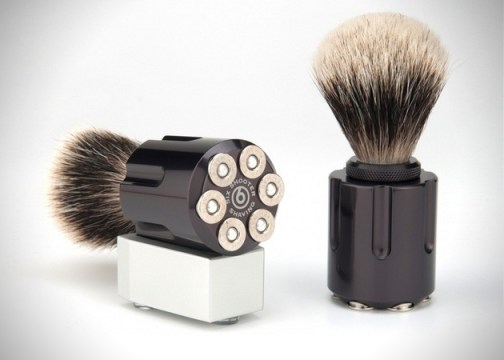 SIX SHOOTER SHAVING BRUSHES