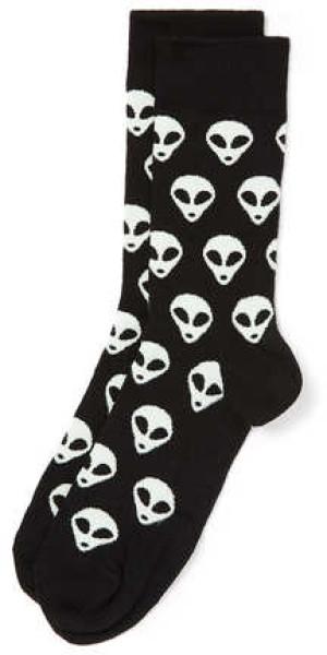 topman-black-black-alien-motif-socks