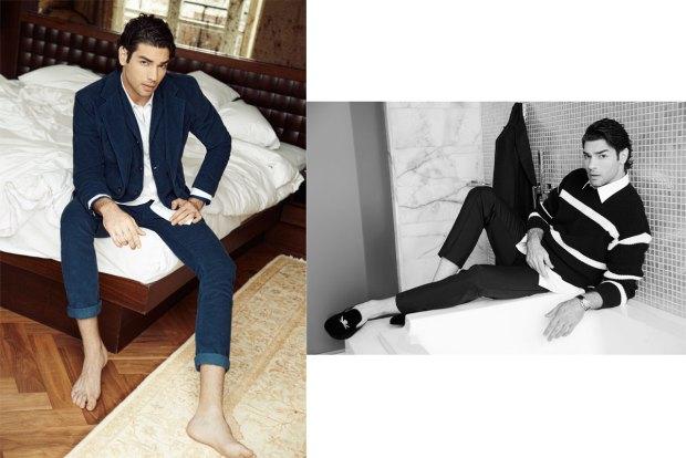 (sol)ceket, pantolon ve yelek VAKKORAMA, gömlek NETWORK,  (sağ) kazak QUE, pantolon Tween, gömlek Gap, ayakkabı ACNE/V2K