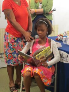 Academy award nominee Quvenzhane Wallis reads Floyd Cooper's Tag Along Moon.
