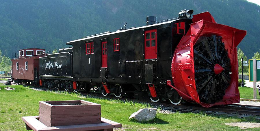 train snow plow
