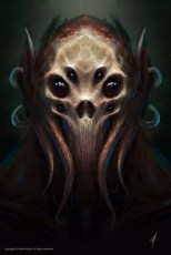Spider skull and cuttlefish monster concept art by Adam Miconi