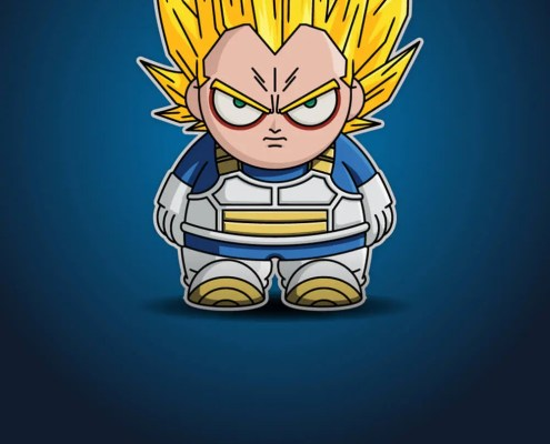 Dragon Ball Z Goku Chibi by Adam Miconi
