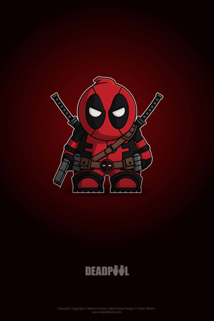 Marvel Deadpool Cartoon Chibi by Adam Miconi