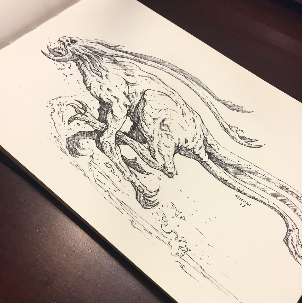 Inktober Day 11 Run by Adam Miconi