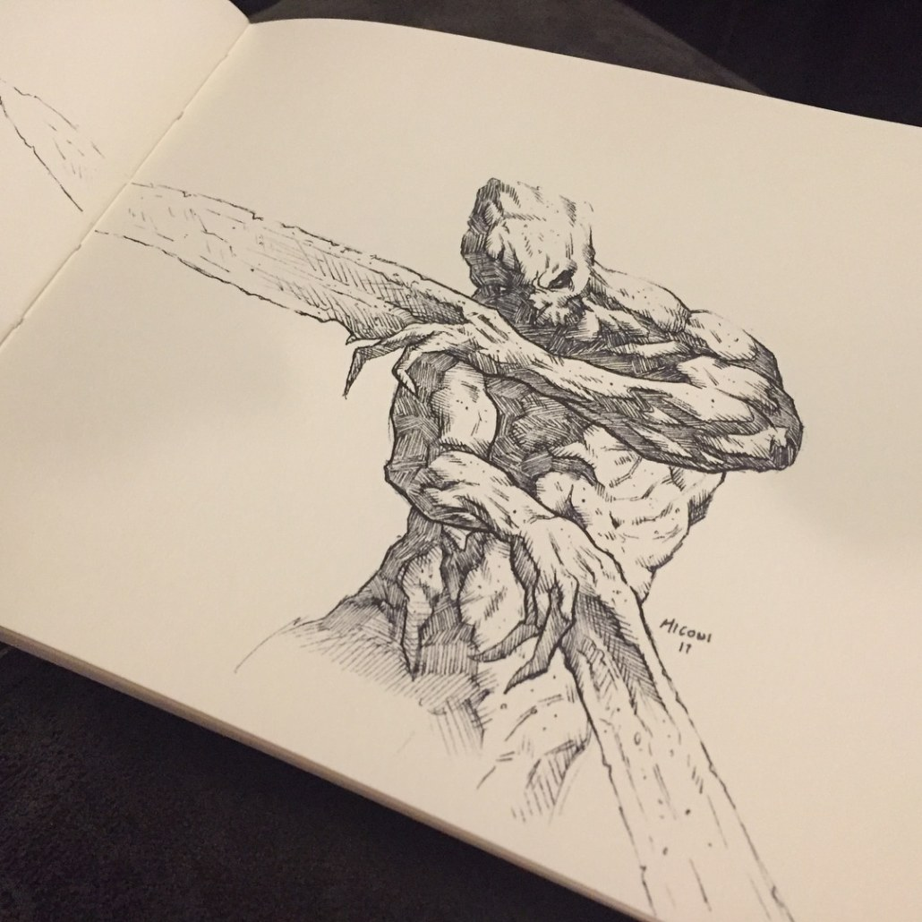 Inktober Day 6 Sword by Adam Miconi
