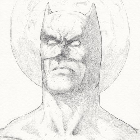 Batman Drawing by Adam Miconi