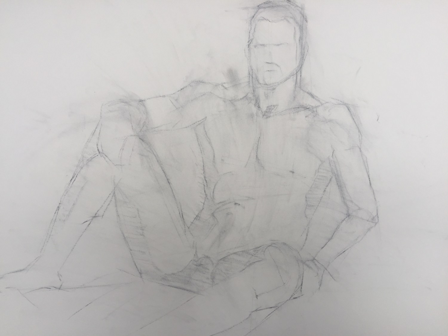 Figure drawing structural lines