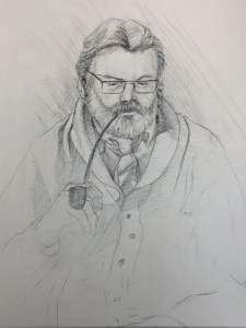 Figure Drawing | The Pastor | Final Drawing